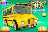 Школьный автобус стал чистым и блестящим