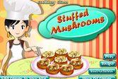 Кухня Сары фаршированные грибы