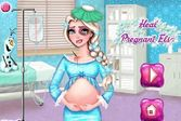 Беременная Эльза в больнице для девочек