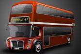 Раскрась двухэтажный английский автобус