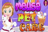Помогите маленькой Мелисе ухаживать за котенком