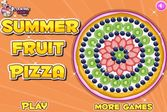 Пицца с летними и вкусными фруктами
