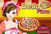 Приготовление пиццы под чутким руководством Беллы
