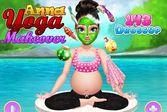 Макияж для беременной принцессы Анны для девочек
