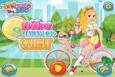 Одеваем девочку для поездки на велосипеде
