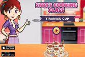 Кухня Сары тирамису в стаканчике