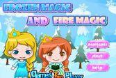 Принцессы Анна и Эльза помогают снеговику Олафу