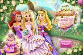 Свадебная вечеринка красивой принцессы Рапунцель