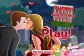 Сладких поцелуй юных и влюбленных вампиров