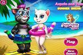 Том и Анжела на море