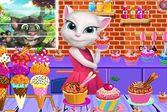 Анжела готовит мороженое