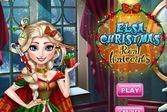 Причёска к Рождеству принцессы Эльзы