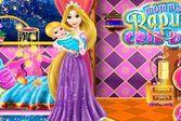 Дизайн кроватки для ребёнка принцессы Рапунцель