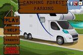 Кемпинг парковка в лесу