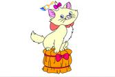 Раскраска: Кошечка