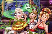 Рапунцель с подружками празднует Хэллоуин