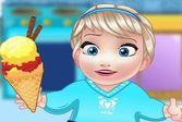 Малышка готовит мороженое