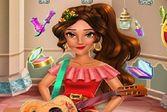 Красивая принцесса в салоне красоты
