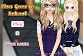 Школьная одевалка для Эльзы