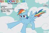 Радуга Дэш смелый пегас пони