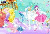 Одевалка: Единорог и Девушка