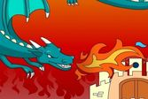 Раскрась Картинку: Замок и Дракон