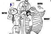 Монстры - Раскраска Главных Героев