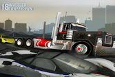 В пробке на 18-колесном грузовике