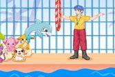 Дельфин выступает