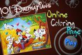 Детская раскраска: Сто один далматинец