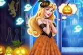 Замок принцессы Авроры на Хэллоуин