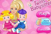 Барби няня близнецов