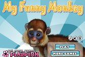 Забавная обезьянка