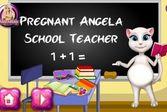 Беременная Анджела школьный учитель