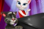 Пианино: Кот Том и Анжела