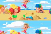Найди 10 Отличий: На Пляже
