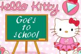Играть Хелло Китти одевается в школу онлайн флеш игра для детей