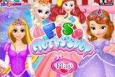 Играть Магазин тканей Эльзы онлайн флеш игра для детей