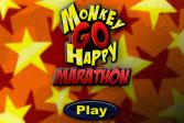 Играть Осчастливь Обезьянку - Марафон онлайн флеш игра для детей