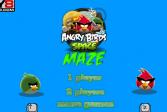 Играть Сердитые птицы в лабиринте онлайн флеш игра для детей