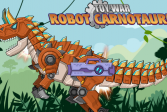 Играть Роботы Динозавры онлайн флеш игра для детей