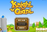 Играть Рыцарь против гиганта онлайн флеш игра для детей