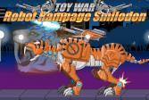 Играть Робот-тигр Смилодон онлайн флеш игра для детей