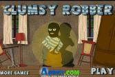 Играть Неуклюжий преступник грабитель онлайн флеш игра для детей