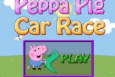Играть Гонка на автомобилях. Свинка Пеппа онлайн флеш игра для детей