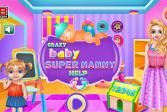 Играть Сумасшедший ребенок - помочь супер-няне онлайн флеш игра для детей