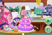 Играть Литл Пони - готовим радужный торт онлайн флеш игра для детей