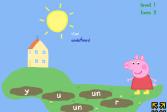 Играть Свинка Пеппа. Прыжки онлайн флеш игра для детей