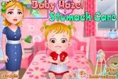 Играть Уход за ребенком Хейзел с больным животиком онлайн флеш игра для детей