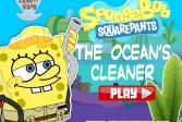 Играть Губка Боб - уборщик океанов онлайн флеш игра для детей